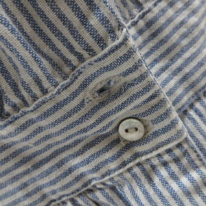Anthropologie Tops - Odille top 6 striped short sleeve button front